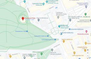 Mapa Stromovka - Planetárium
