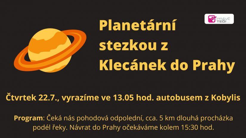 Planetární stezkou z Klecánek do Prahy